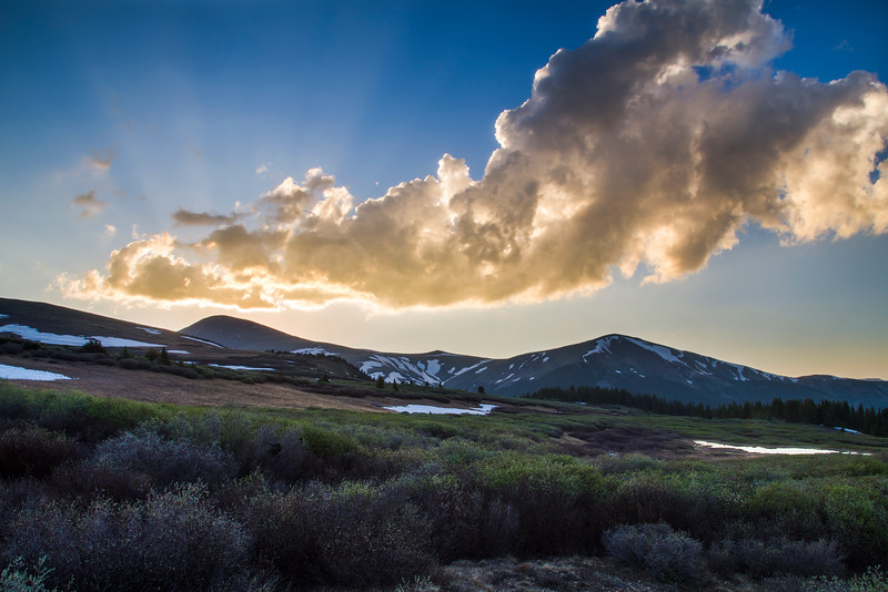 Sunset over Guanella Pass