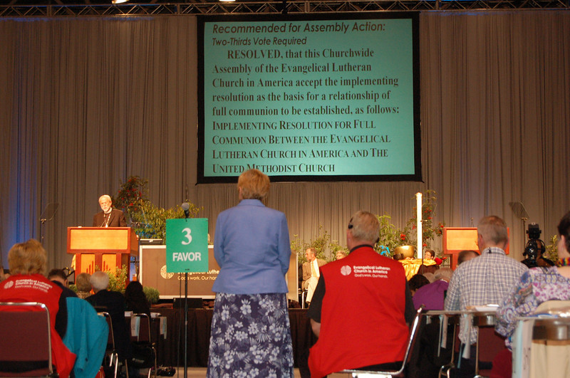 Resolution for Full Communion between the ELCA and UMC.