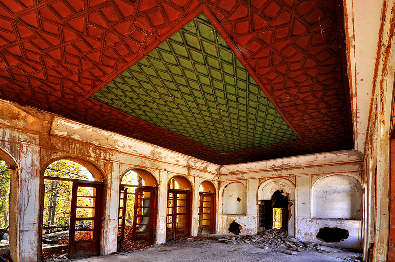 Details of Ceiling In an Abandoned House, Isfahan.