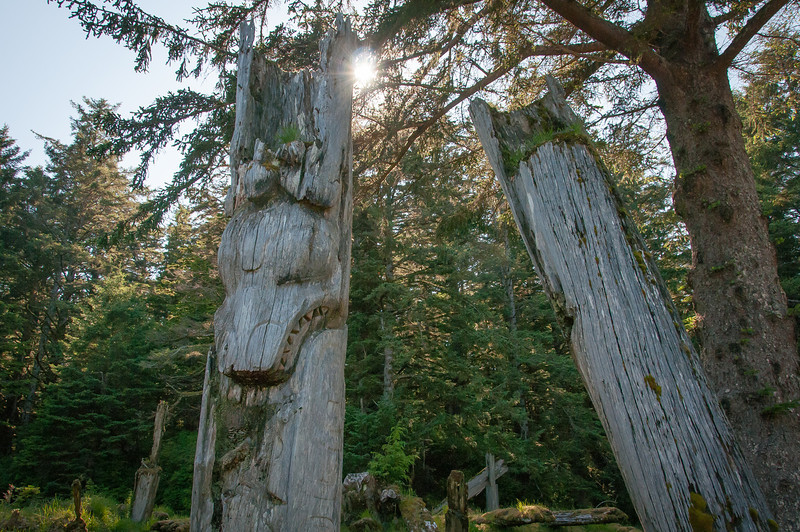 Totem Poles - Sgang Gwaay, British Columbia