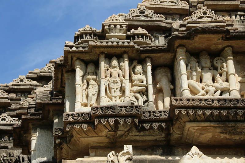More intricate detail of the Baroli temples