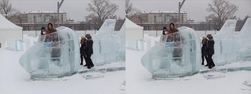2011-01-02, Ice Sculptures on Cosmonautics (3D RL)