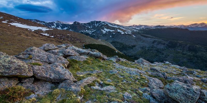 Evening on Mount Evans Panorama