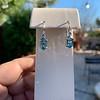 4.20ctw Blue Zircon Dangle Earrings 10
