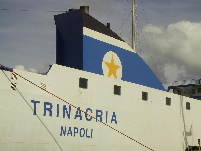 2007 - TRINACRIA in Napoli : name and funnel.