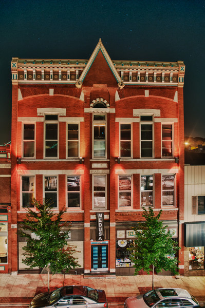 7/23/11 : A night shot of one of the interesting old buildings in downtown Elgin.  I used HDR Efex Pro for the first time to process this image and must say that I am quite impressed with the results.