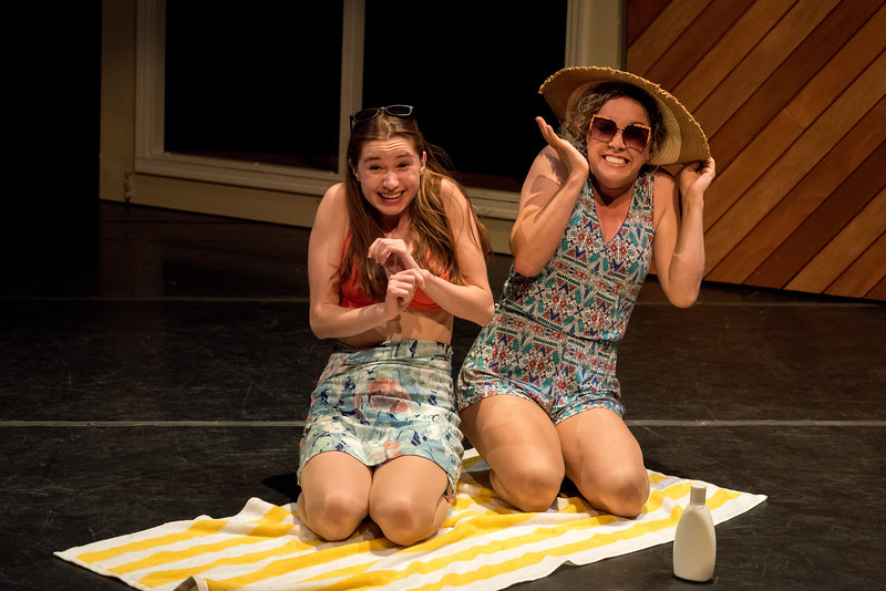 L-R: Isabel Langen and Molly Benson at the beach Anniversary! by Word for Word Photo credit: Hillary Goidell (Hi Res Version of Photo)
