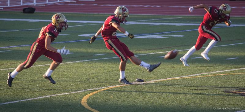 Oak Christian Player kicks off