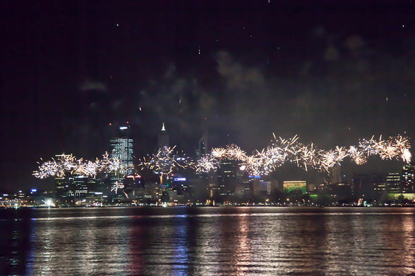Australia Day 2013 - Skyworks in Perth City