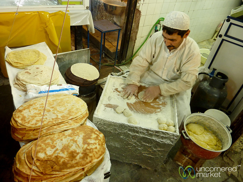 Making Bread in Rasht, Iran