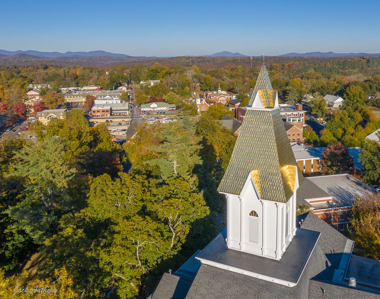 Gold covered steeple at the University of North Georgia