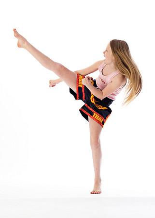 Annika Kickboxing in Studio 3/10/10