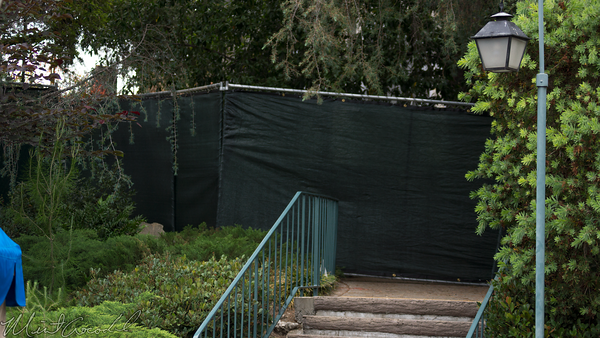 Disneyland Resort, Disneyland, Fantasyland, Skyway, Sky, Way, Chalet, Wall, Demolish, Tarp