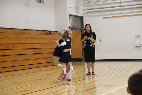 8th Grade & Kindergarten Buddies   September