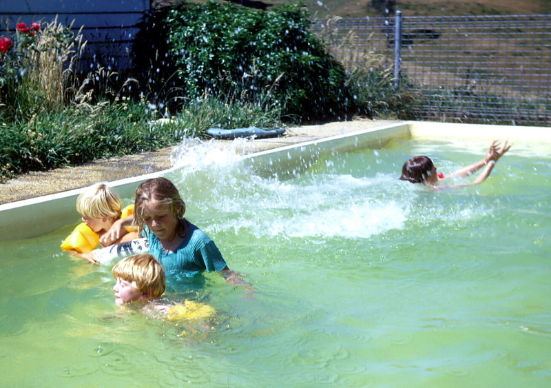 1975-1 (17) Andrew 5 yrs 5 mths, Susan 9 yrs 6 mths, Allen 3 yrs 8 mths with David 11 yrs 1 mth in background.jpg