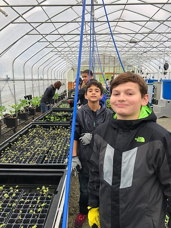 Eighth Graders Help Others Over the Weekend