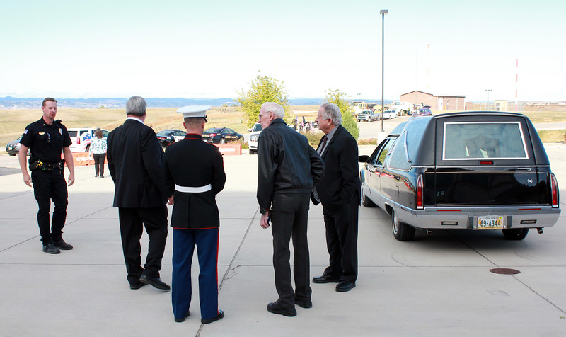 Awaiting transfer to Chamberlain Chapel hearse - October 5, 2016