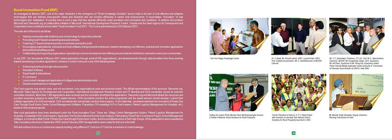 """""""Reaching the Unreached"""" is a MSSRF (M S Swaminathan Research Foundation) book by Suchit Nanda and Subbiah Arunachalam. More details can be found at: http://www.mssrf.org/  and  http://www.mssrf-nva.org/"""
