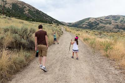 July 2018 - Hike to the B (Paul, Caleb, Olivia)