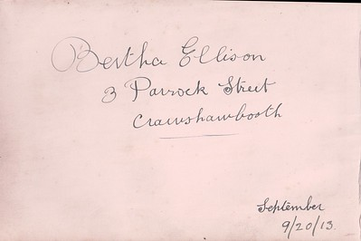 Bertha Ellison (Pickup) Autograph book 1913 onwards