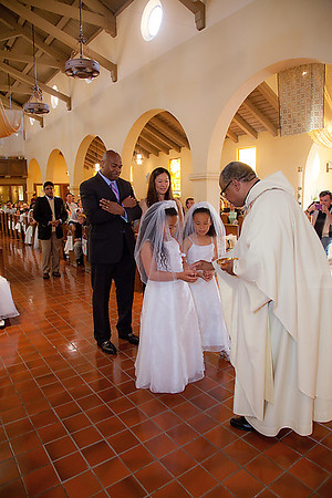 Receiving 1st Communion