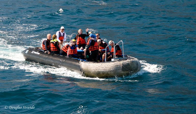 Xpedition group near Punta Vincente Roca, Isabela Island