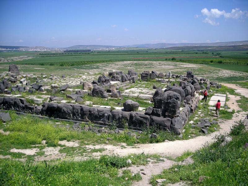 the ruins of Ain Dara, near the Turkish border