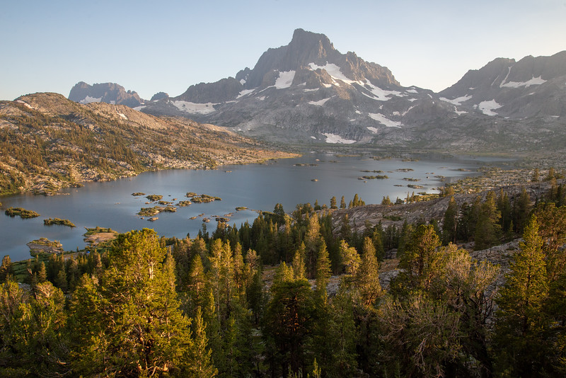 Banner Peak towers above the incomparable Thousand Island Lake in the Ansel Adams Wilderness.