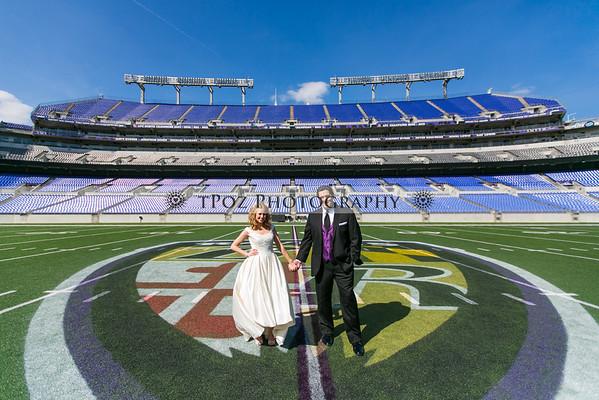 Sarah+Dan's Ravens Stadium Elopement