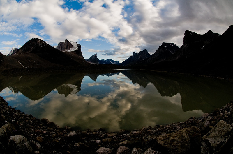 Summit Lake reflections, Baffin Island