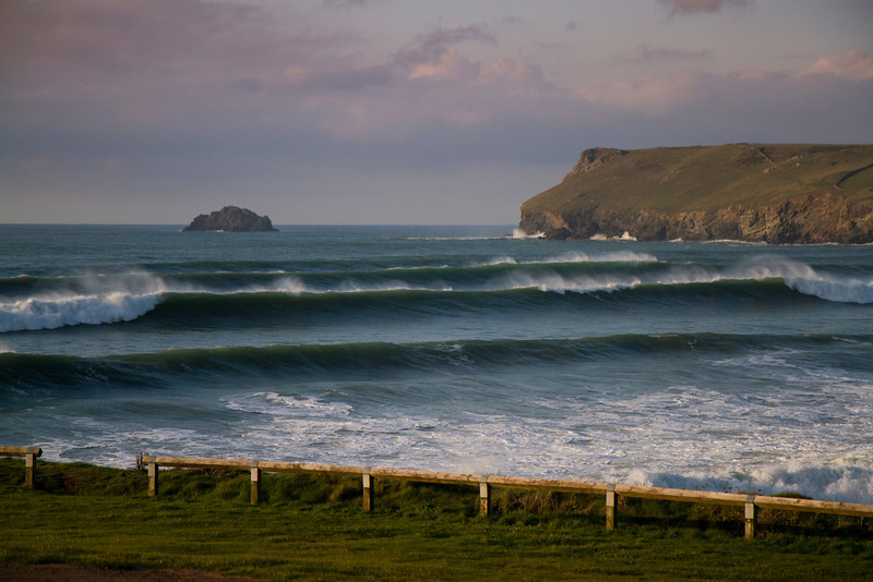 Rollers Coming into Polzeath beach