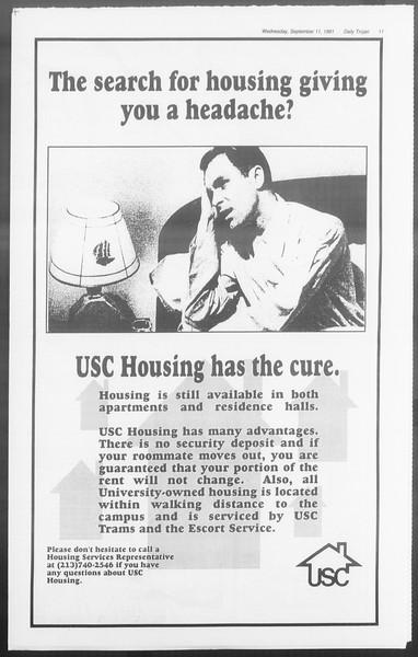 Daily Trojan, Vol. 116, No. 7, September 11, 1991