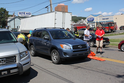 Two Vehicle Accident, Center St, Tamaqua (8-30-2011)