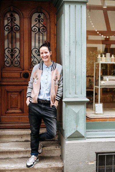Portrait of Anna Castiello, jeweler in Basel, Switzerland.