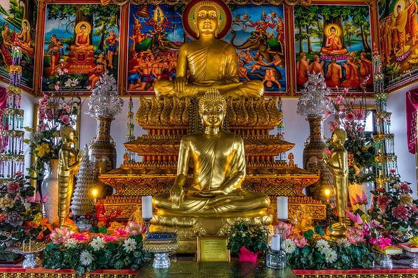 Normal saturation, Buddhist shrine, HDR processing, Photomatix processing