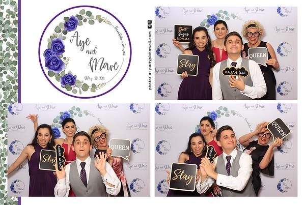 Aye & Marc's Wedding (LED Dazzle Photo Booth)