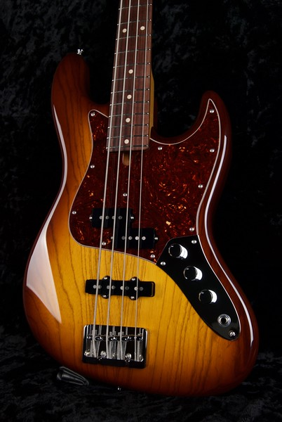 J4 Bass #3569, Trans Tobacco Burst, Grosh PJ pickups