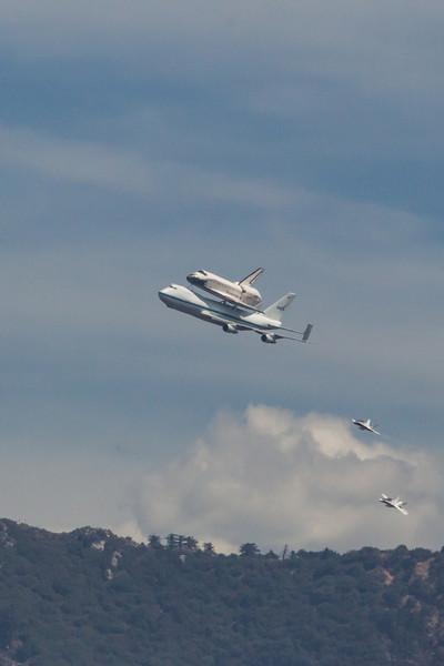 Shuttle Endeavour Flyover Los Angeles