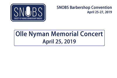 2019-0425 SNOBS Olle Nyman Memorial Concert