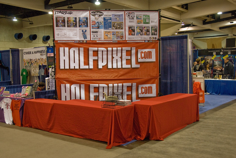 A booth at the 2009 Comic-Con in San Diego, California