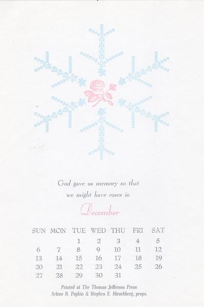 December, 1992, Thomas Jefferson Press