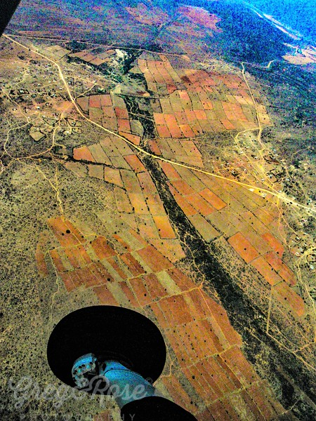 Air shot of rural Northern areas of South Africa.