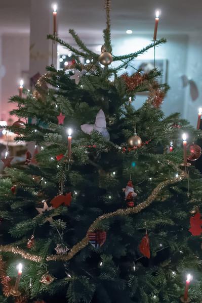 Wie üblich haben wir den Weihnachtsbaum am letzten Tag gekauft.