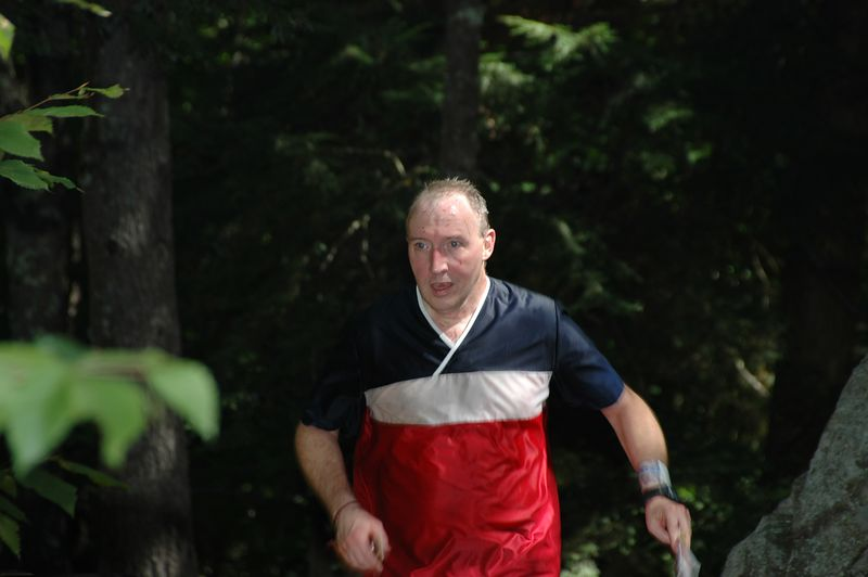Pat Dunlavey races to the finish