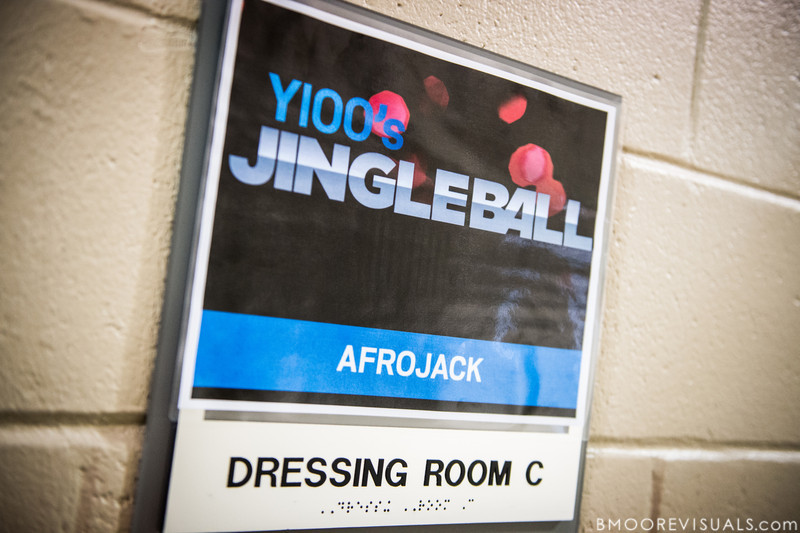Afrojack's dressing room on December 8, 2012 at the Y100 Jingle Ball at BB&T Center in Sunrise, Florida