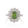 4.38ctw Art Deco Russian Demantoid & Diamond Cluster Ring 0