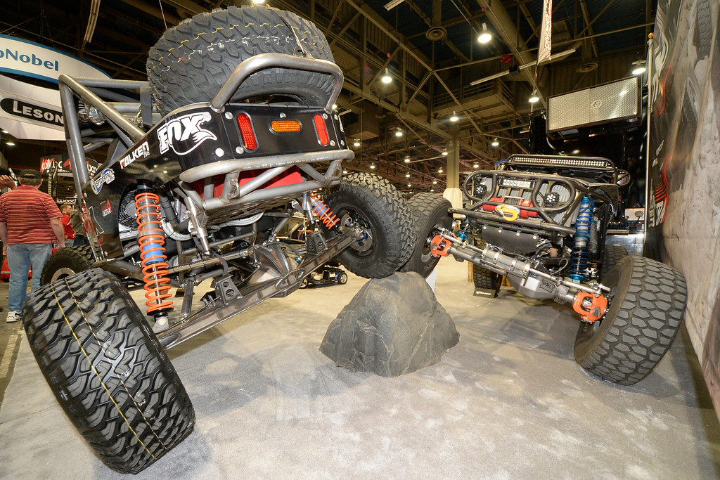 . Nov 6,2013 Las Vegas NV. USA. Dynatrac 4x4 axles are displayed,  during the second day of the 2013 SEMA auto show. Photo by Gene Blevins/LA Daily News