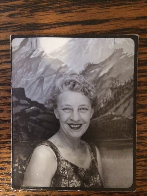 ". From Ktcakes: ""Grandma in her picture booth.\"""