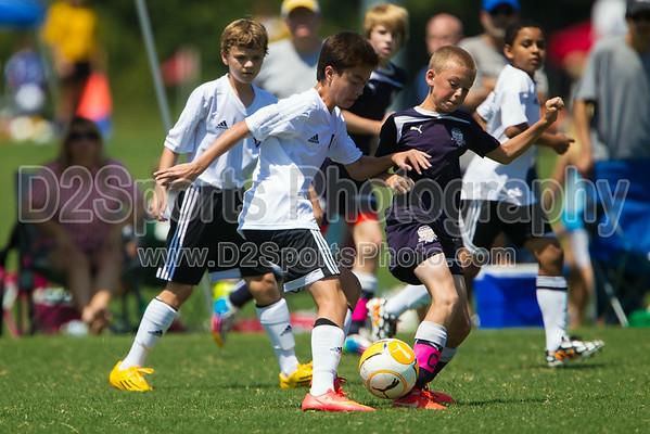 JASA COASTAL SURGE 01B vs NCUSA 01 ORANGE - U13 Boys 8/16/2014