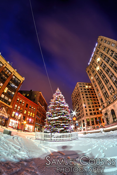 Christmas Tree in Monument Square